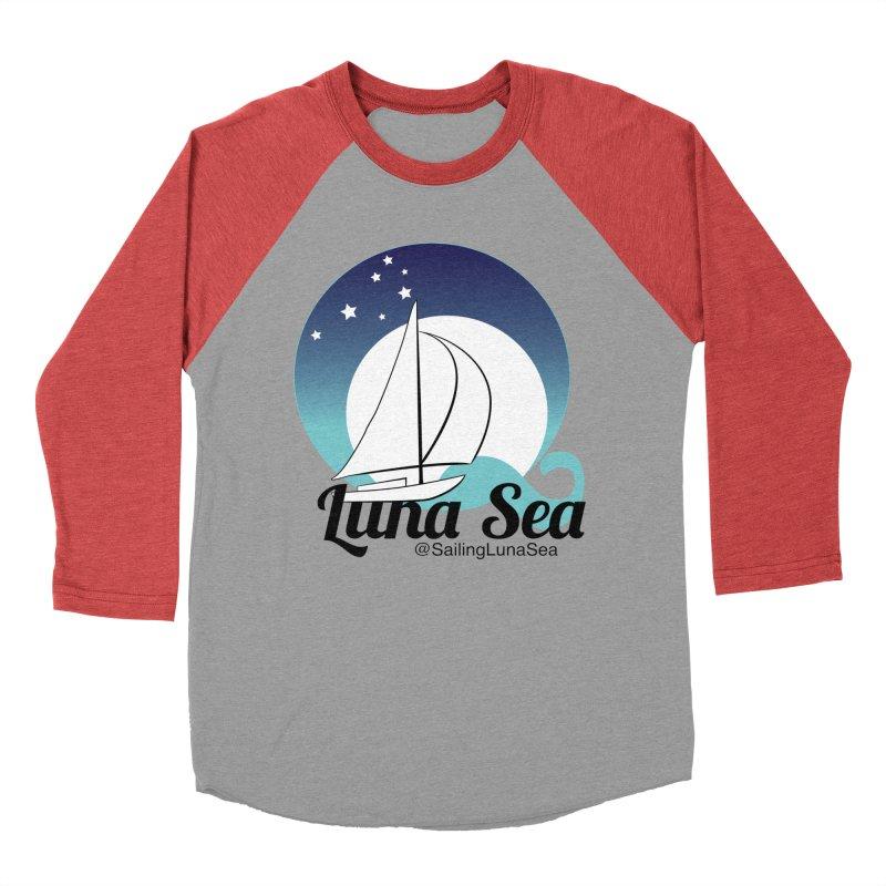 Sailing Luna Sea Logo Tees and Swag Men's Baseball Triblend T-Shirt by Sailing Luna Sea's Swag Shop