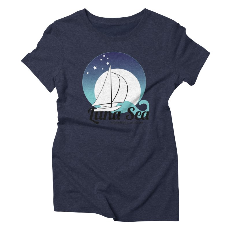 Sailing Luna Sea Logo Tees and Swag Women's Triblend T-Shirt by Sailing Luna Sea's Swag Shop