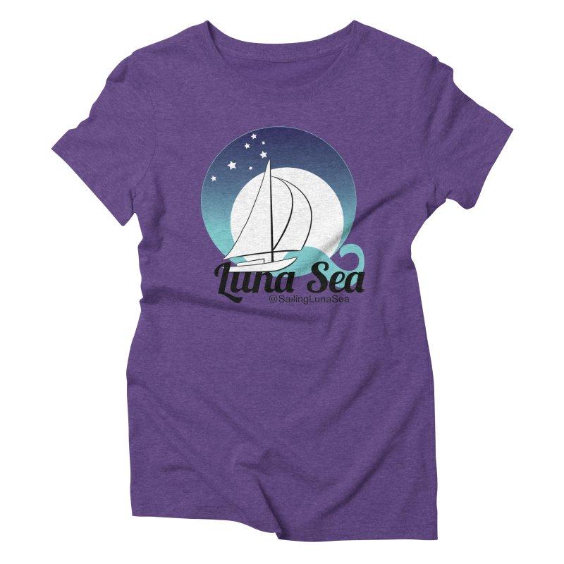 Sailing Luna Sea Logo Tees and Swag Women's Triblend T-Shirt by Sailing Luna Sea's Swag Shop