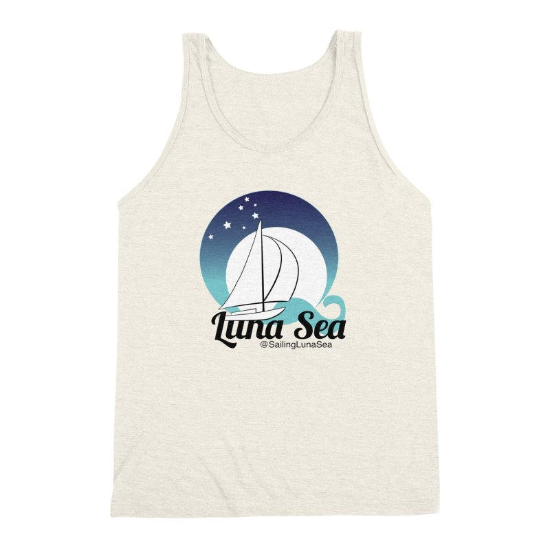 Sailing Luna Sea Logo Tees and Swag Men's Triblend Tank by Sailing Luna Sea's Swag Shop