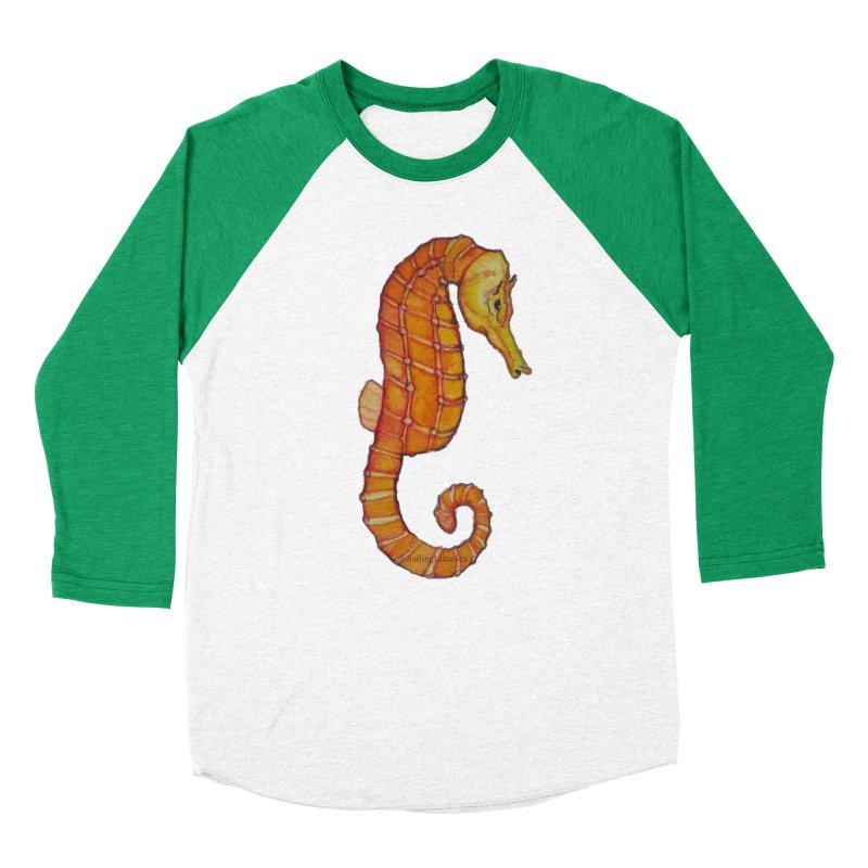 Charlie the Cranky Seahorse Men's Baseball Triblend T-Shirt by Sailing Luna Sea's Swag Shop