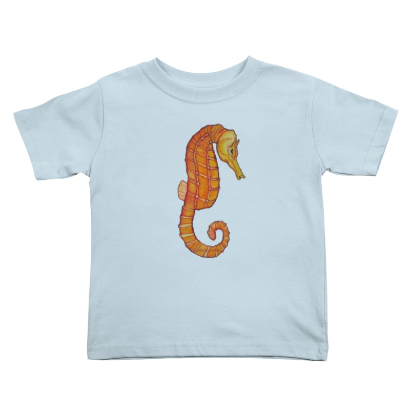 Charlie the Cranky Seahorse Kids Toddler T-Shirt by Sailing Luna Sea's Swag Shop