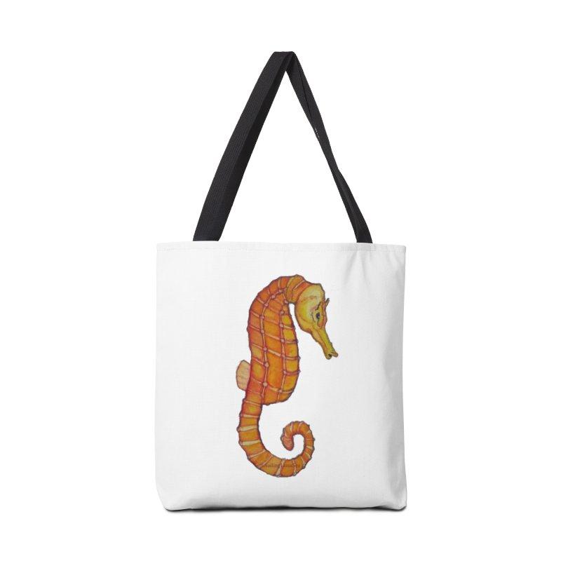 Charlie the Cranky Seahorse Accessories Bag by Sailing Luna Sea's Swag Shop