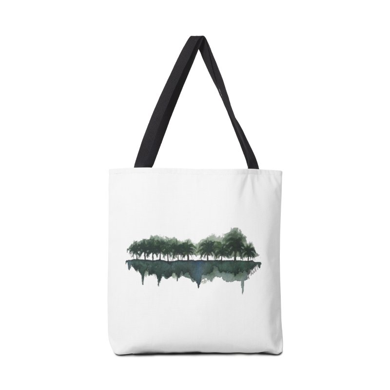 Palm Tree Reflections Accessories Bag by Sailing Luna Sea's Swag Shop
