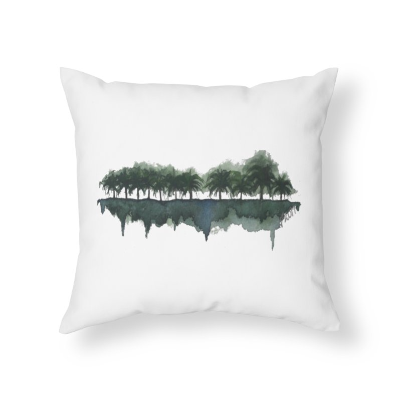 Palm Tree Reflections Home Throw Pillow by Sailing Luna Sea's Swag Shop