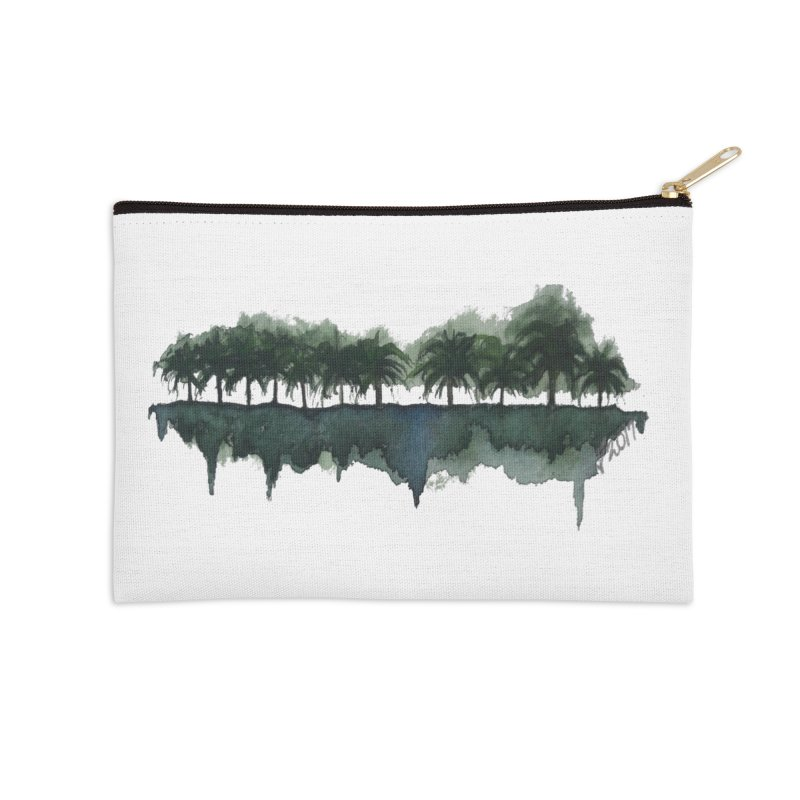 Palm Tree Reflections Accessories Zip Pouch by Sailing Luna Sea's Swag Shop
