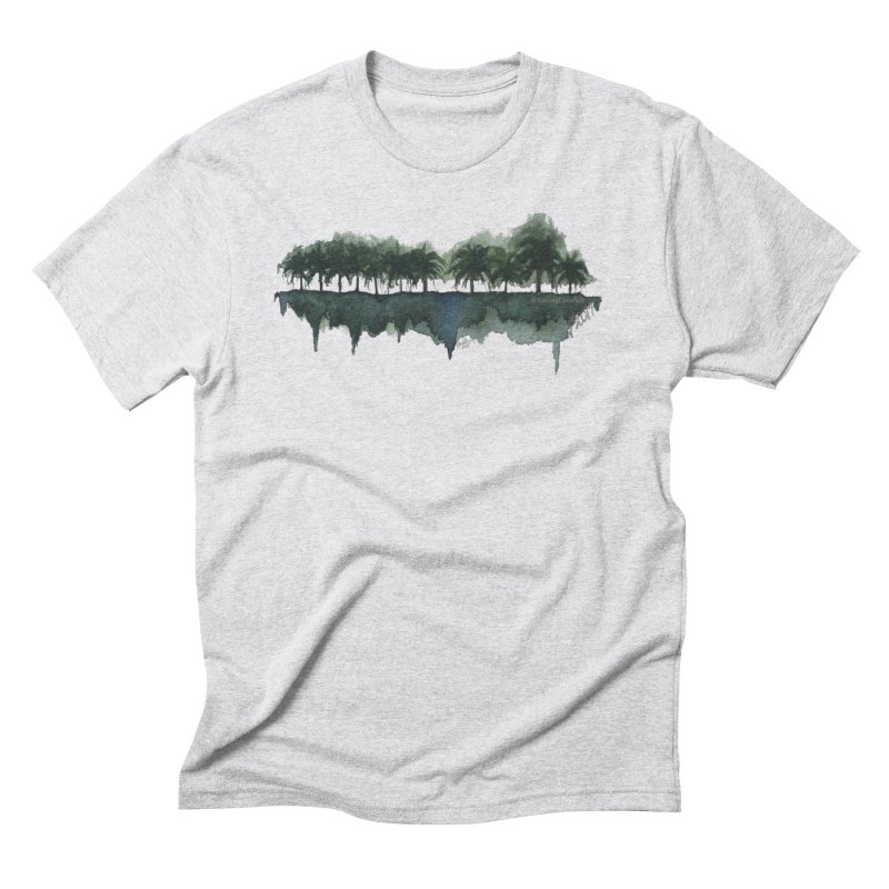 Palm Tree Reflections Men's Triblend T-shirt by Sailing Luna Sea's Swag Shop