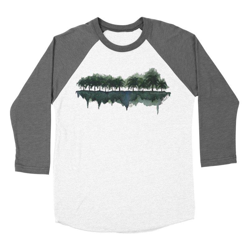 Palm Tree Reflections Men's Baseball Triblend T-Shirt by Sailing Luna Sea's Swag Shop