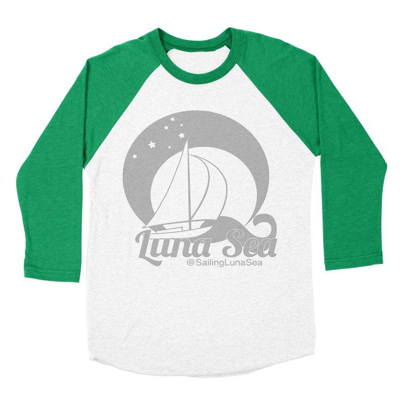 SLS Gray Logo  Men's Baseball Triblend T-Shirt by Sailing Luna Sea's Swag Shop
