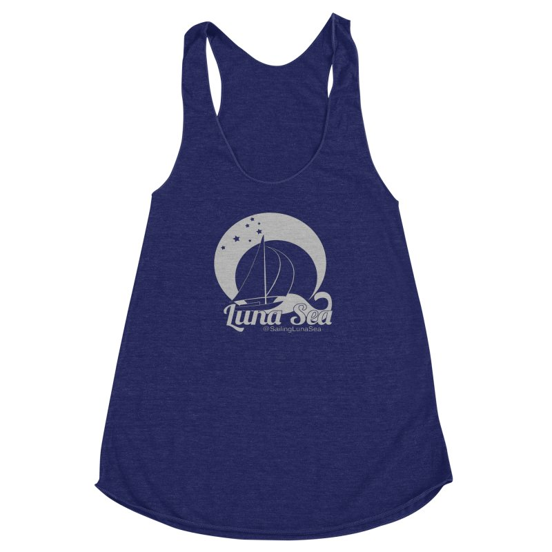 SLS Gray Logo  Women's Racerback Triblend Tank by Sailing Luna Sea's Swag Shop