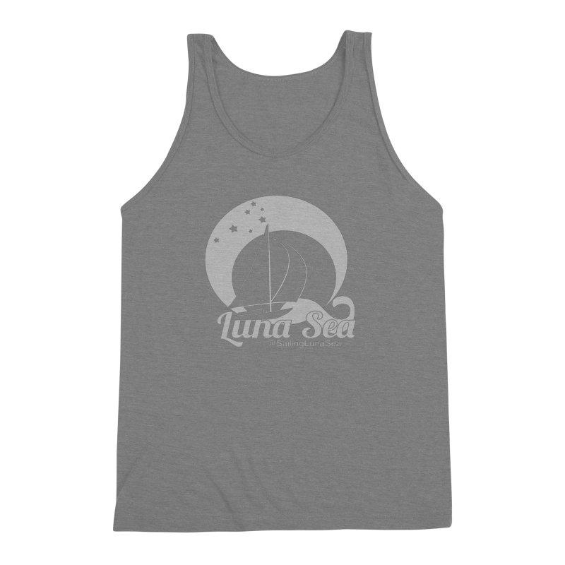 SLS Gray Logo  Men's Triblend Tank by Sailing Luna Sea's Swag Shop