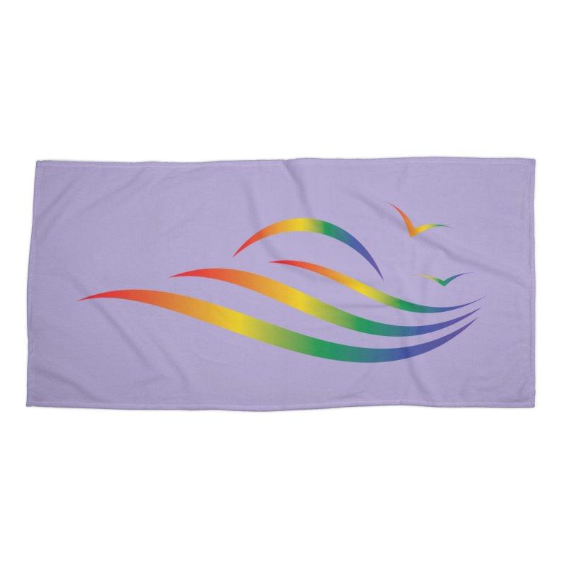 City of Salisbury Rainbow Logo Accessories Beach Towel by SalisburyPride's Artist Shop
