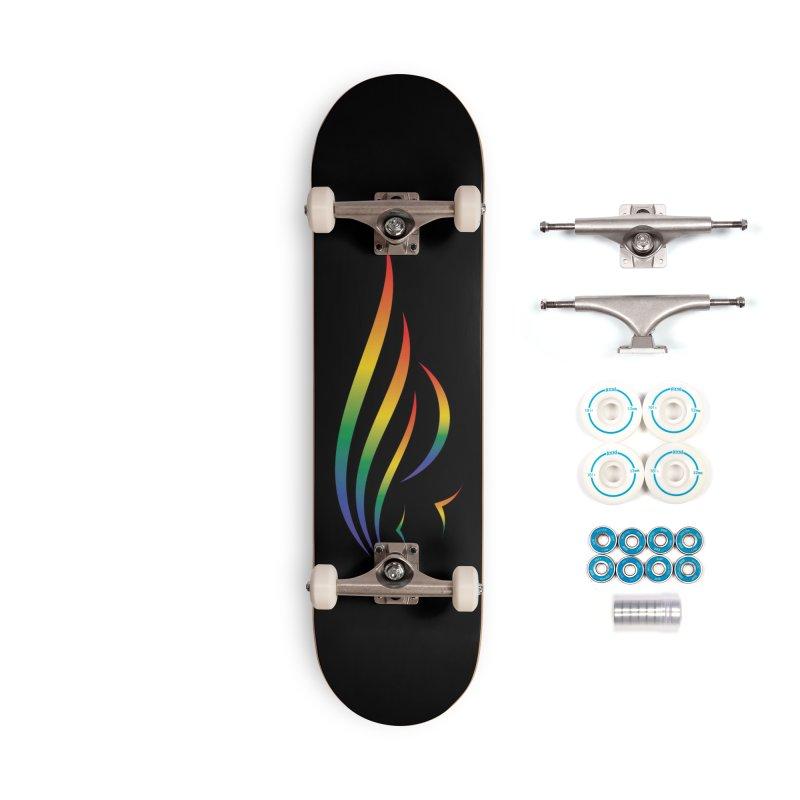 City of Salisbury Rainbow Logo Accessories Skateboard by SalisburyPride's Artist Shop