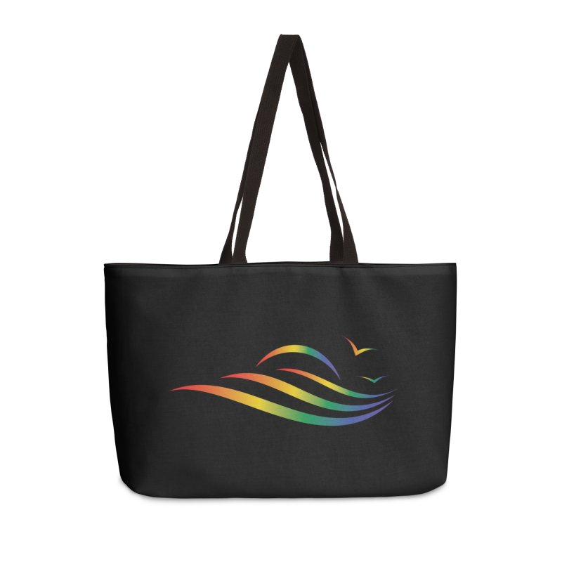 City of Salisbury Rainbow Logo Accessories Bag by SalisburyPride's Artist Shop