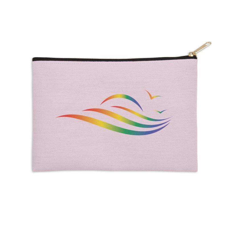 City of Salisbury Rainbow Logo Accessories Zip Pouch by SalisburyPride's Artist Shop