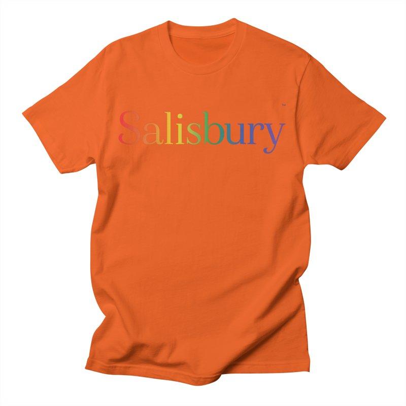 Rainbow Salisbury Men's T-Shirt by SalisburyPride's Artist Shop