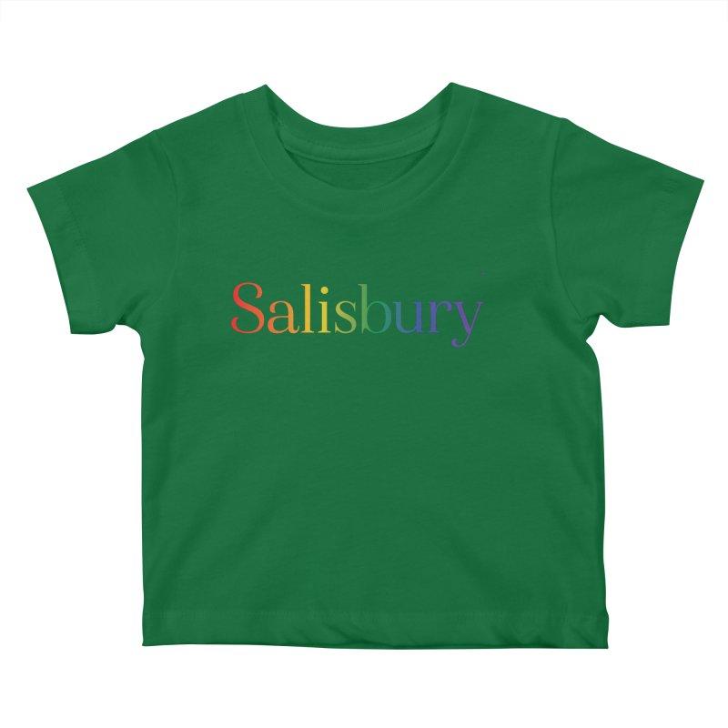 Rainbow Salisbury Kids Baby T-Shirt by SalisburyPride's Artist Shop