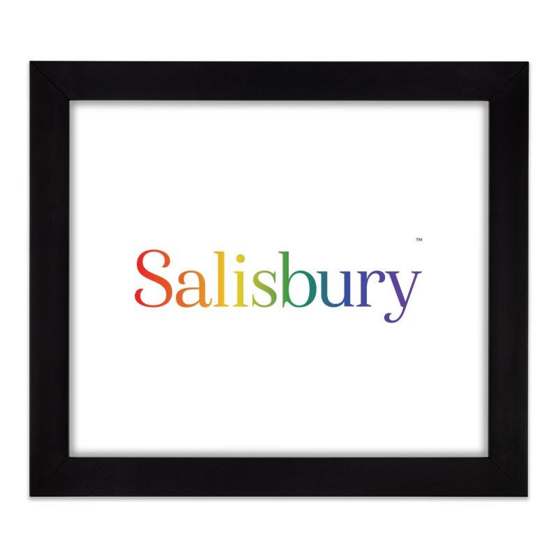 Rainbow Salisbury Home Framed Fine Art Print by SalisburyPride's Artist Shop