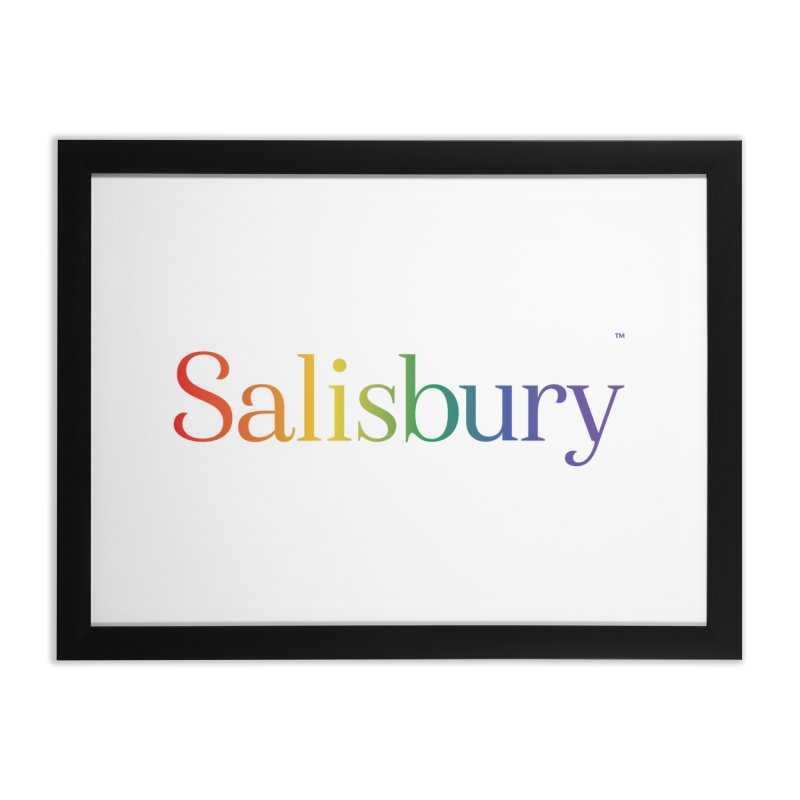 Rainbow Salisbury Home Framed Fine Art Print by SalisburyPride's Artist Shop