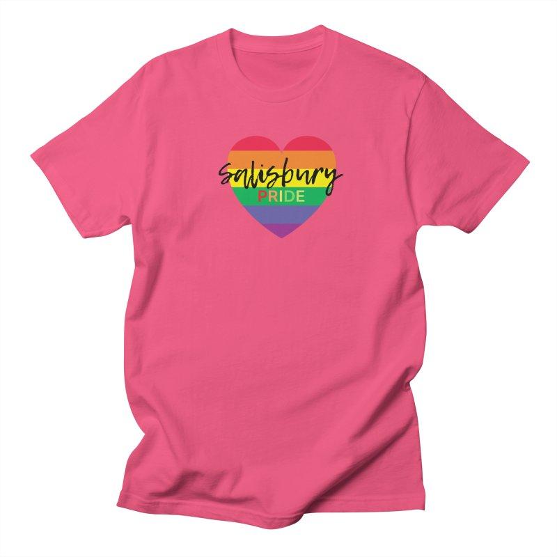 Classic Salisbury Pride Heart Logo Men's T-Shirt by SalisburyPride's Artist Shop