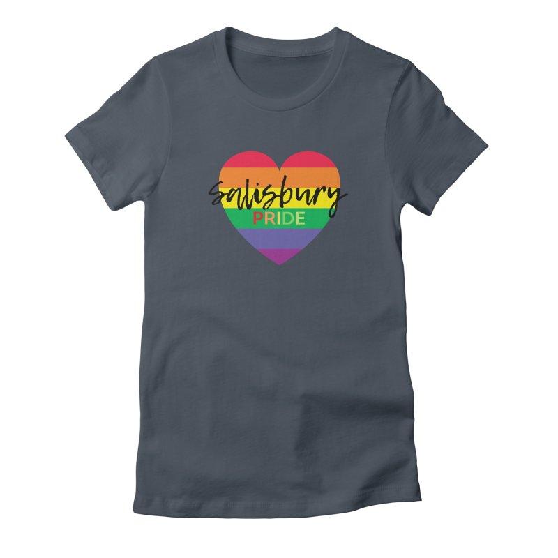 Classic Salisbury Pride Heart Logo Women's T-Shirt by SalisburyPride's Artist Shop
