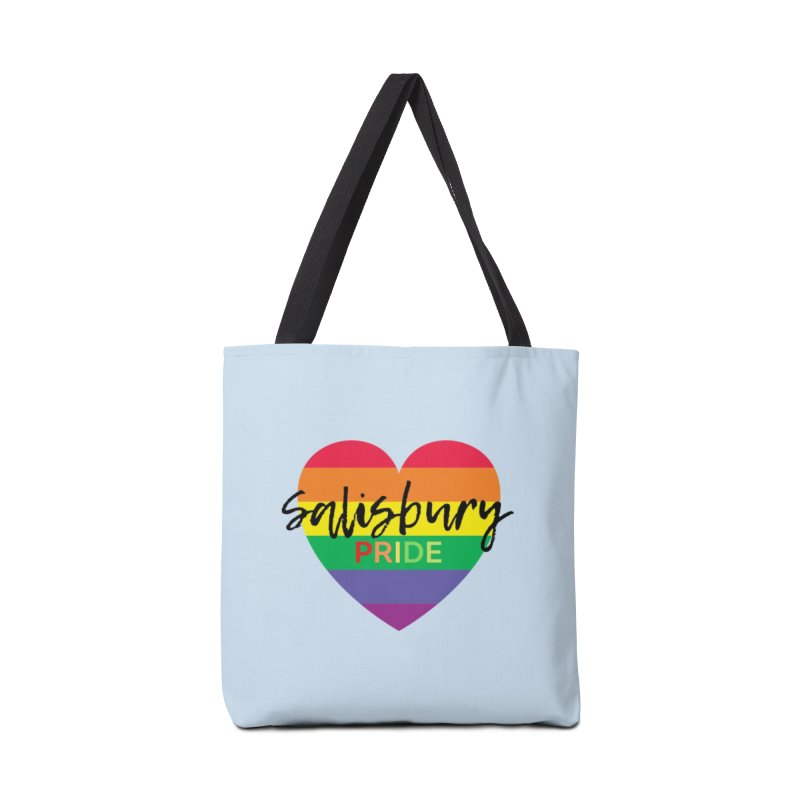 Classic Salisbury Pride Heart Logo Accessories Bag by SalisburyPride's Artist Shop