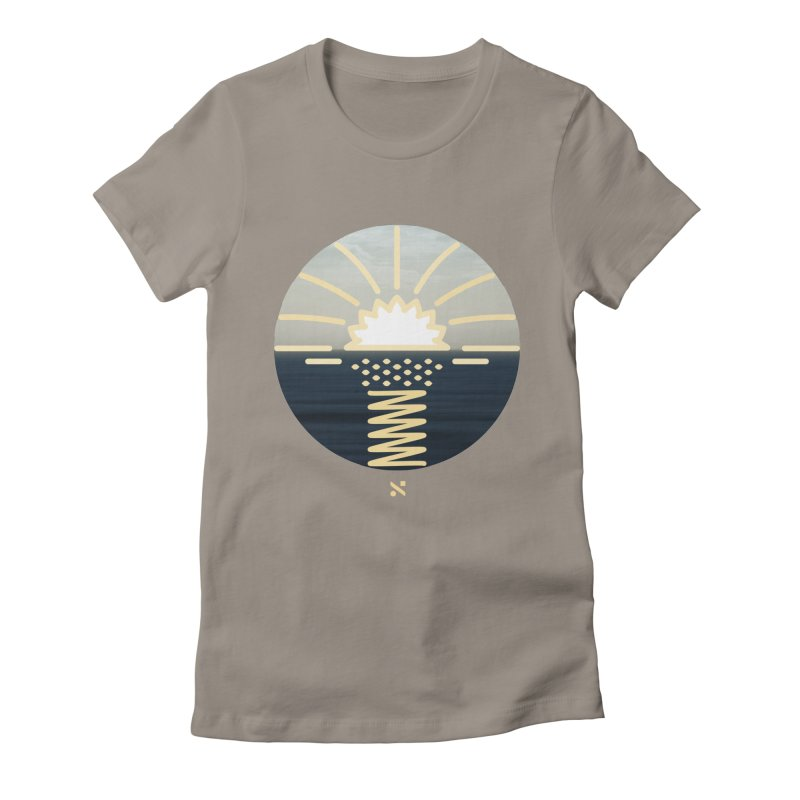 Sun Palm  Women's Fitted T-Shirt by Sam Arias