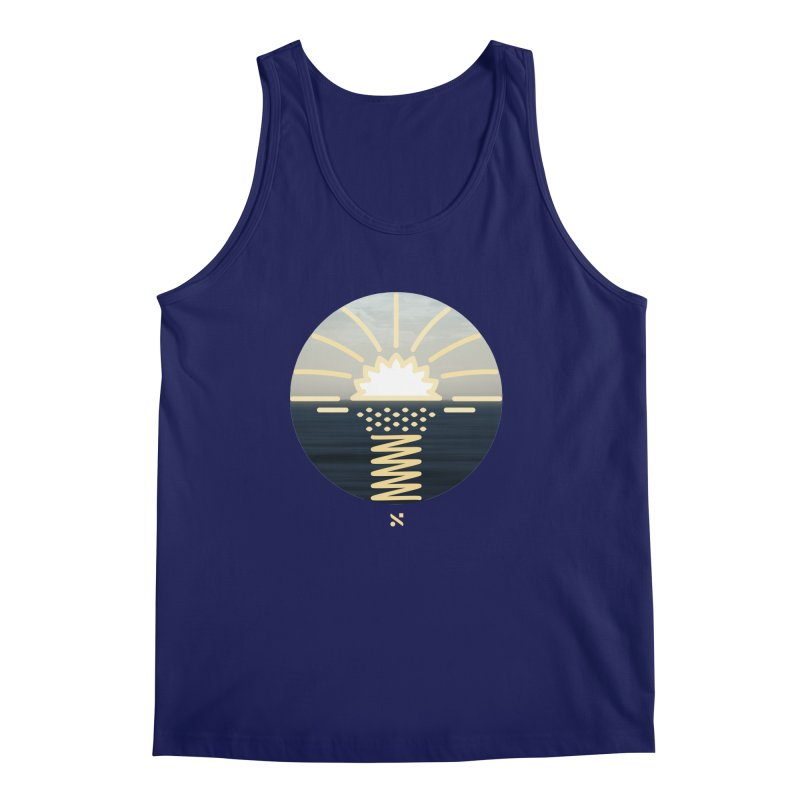 Sun Palm  Men's Tank by Sam Arias