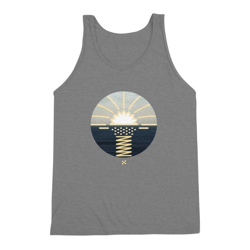 Sun Palm  Men's Triblend Tank by Sam Arias
