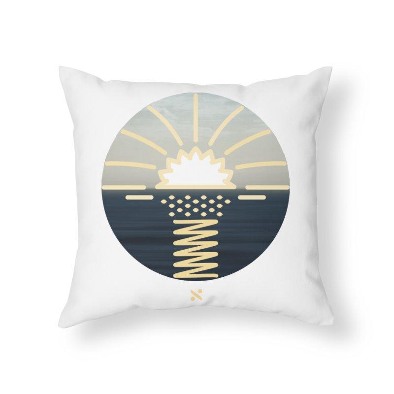 Sun Palm  Home Throw Pillow by Sam Arias