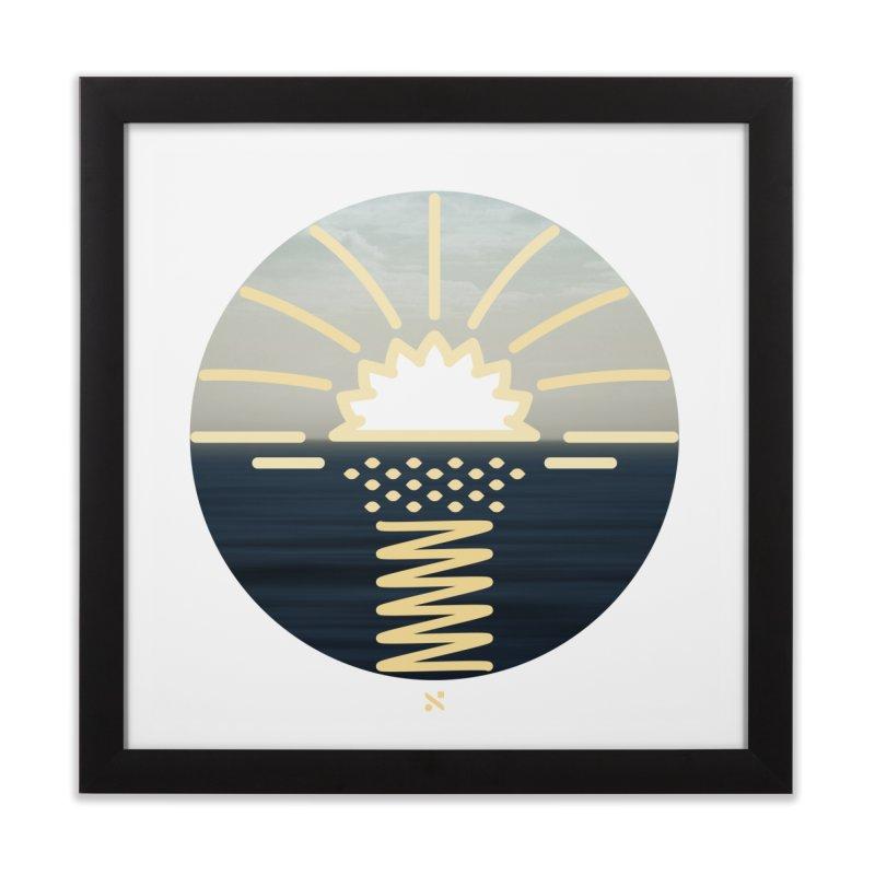 Sun Palm  Home Framed Fine Art Print by Sam Arias