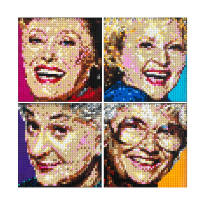 Golden Girls LEGO Mosaic Portraits by SamHatmaker's Shop