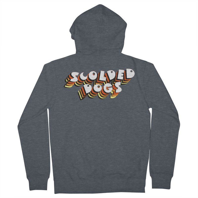 Scolded Tee Women's French Terry Zip-Up Hoody by Sam Shain's Artist Shop