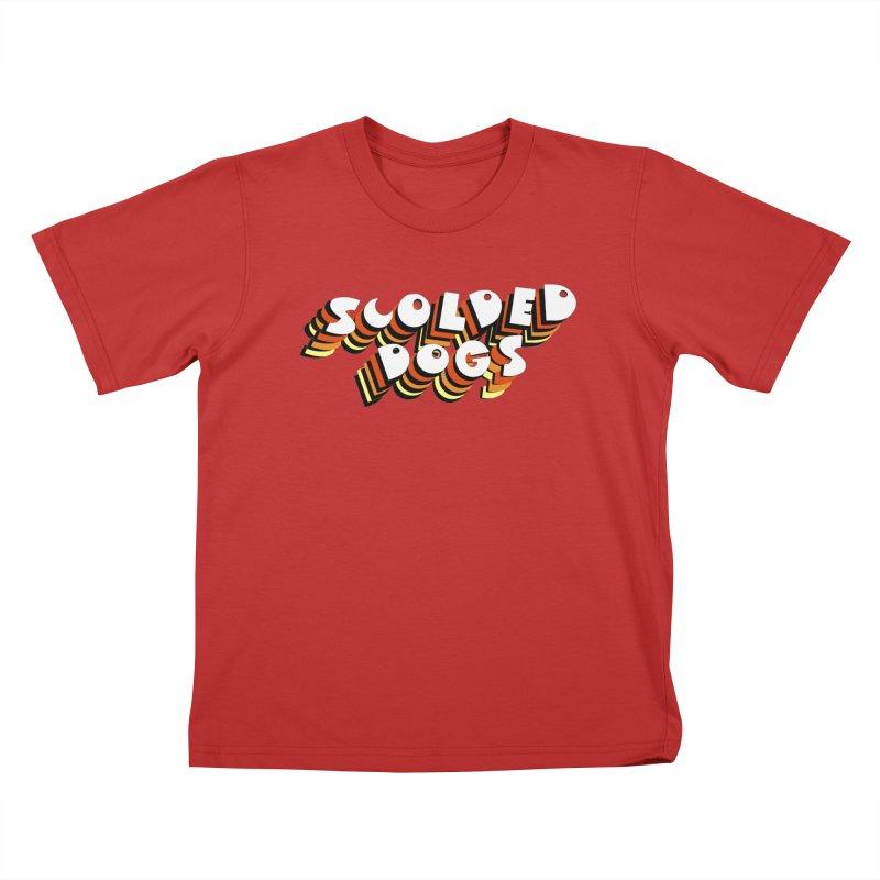 Scolded Tee Kids T-Shirt by Sam Shain's Artist Shop