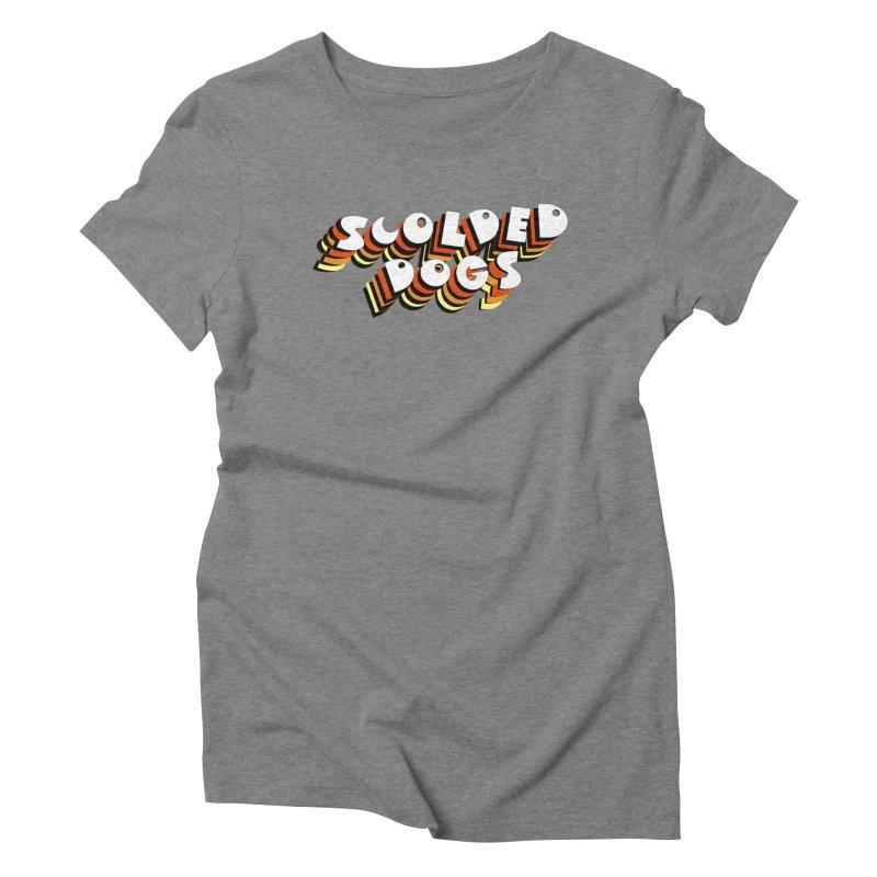 Scolded Tee Women's Triblend T-Shirt by Sam Shain's Artist Shop