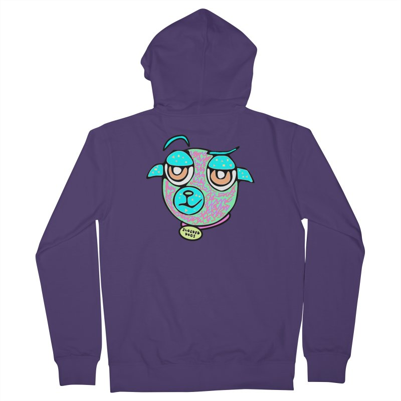 Scolded Tee II Women's French Terry Zip-Up Hoody by Sam Shain's Artist Shop