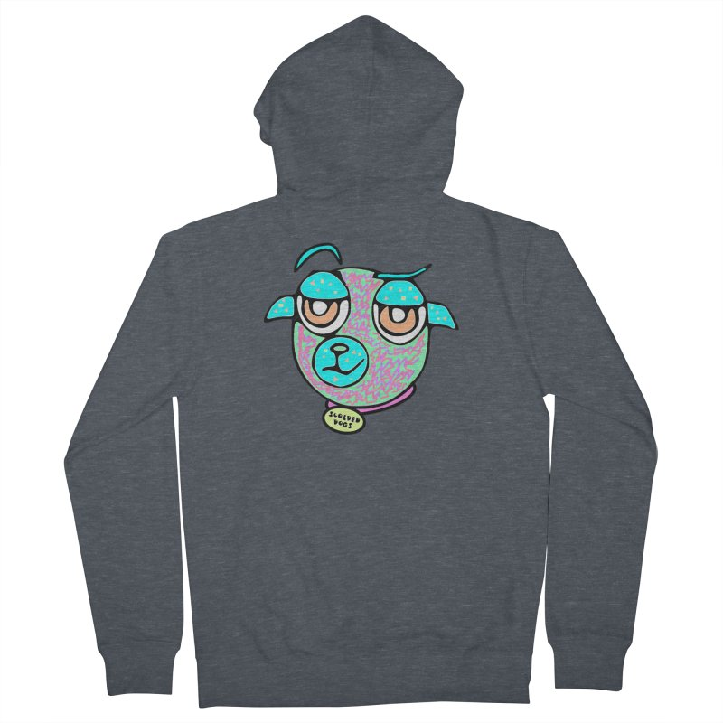 Scolded Tee II Men's French Terry Zip-Up Hoody by Sam Shain's Artist Shop