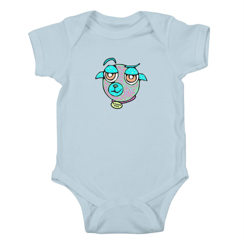 Scolded Tee II Kids Baby Bodysuit by Sam Shain's Artist Shop