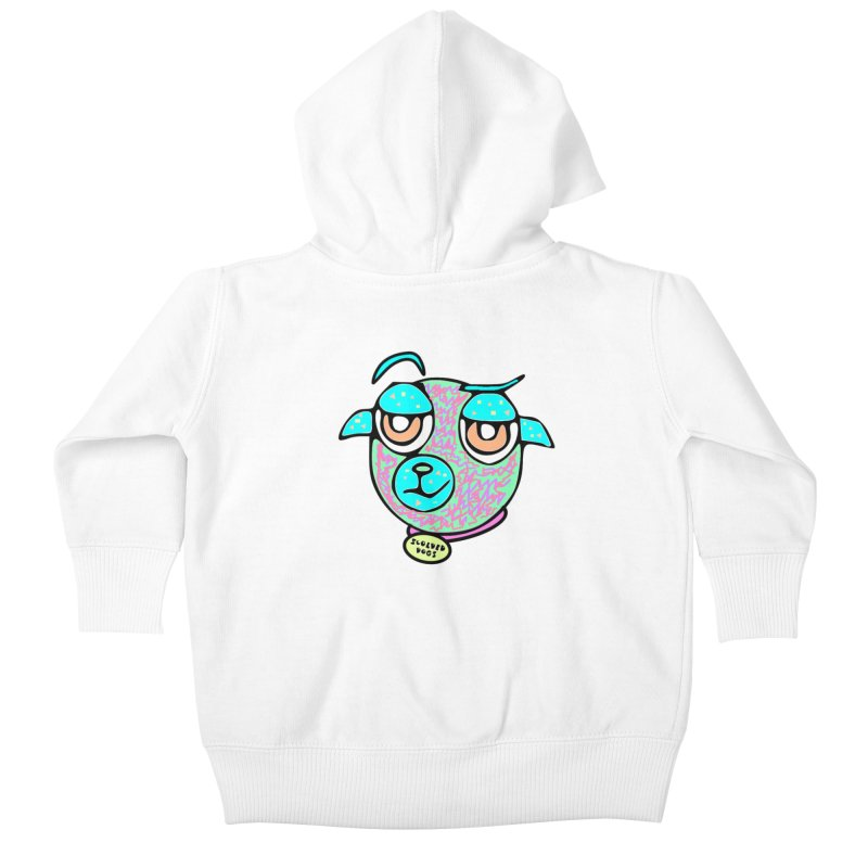 Scolded Tee II Kids Baby Zip-Up Hoody by Sam Shain's Artist Shop