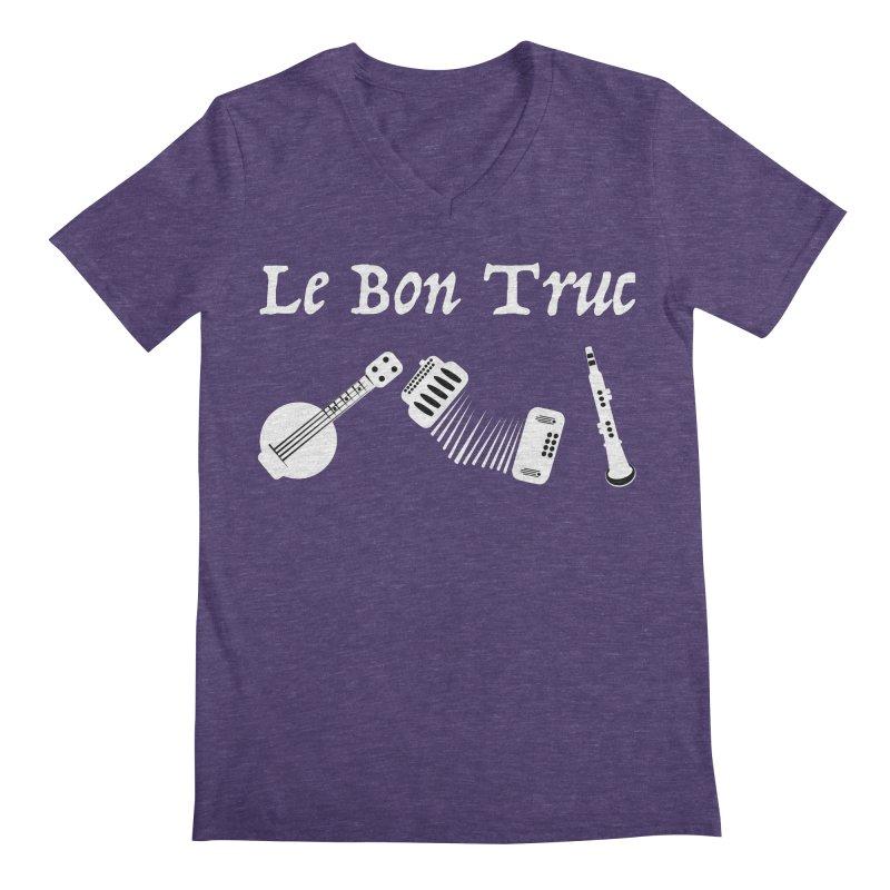 Le Bon Truc Men's V-Neck by Sam Shain's Artist Shop