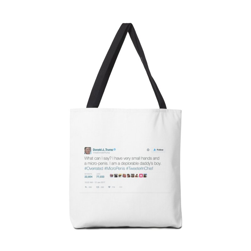 #TweeterInChief Accessories Tote Bag Bag by Sam Shain's Artist Shop