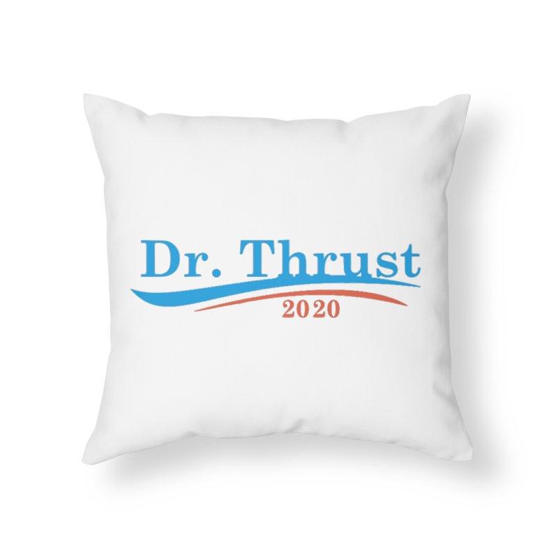 Dr. Thrust Home Throw Pillow by Sam Shain's Artist Shop