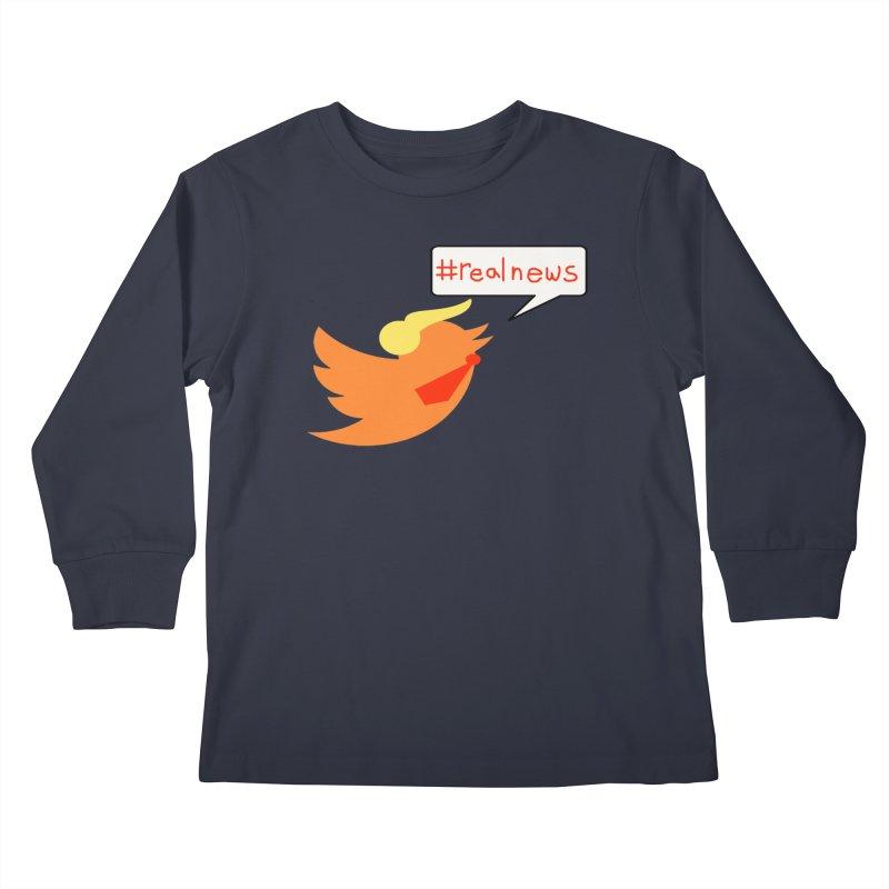 #RealNews Kids Longsleeve T-Shirt by Sam Shain's Artist Shop