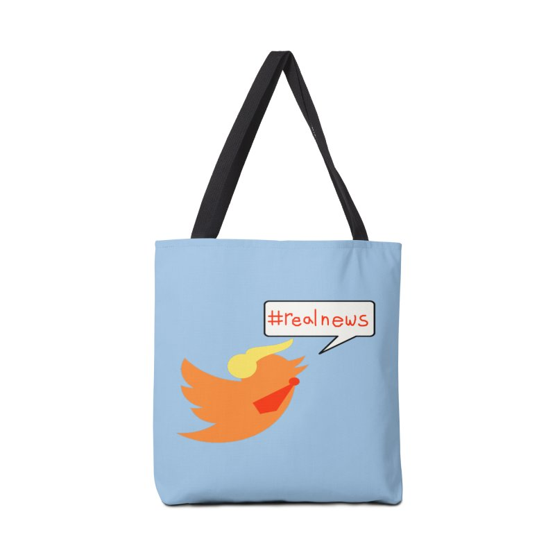 #RealNews Accessories Tote Bag Bag by Sam Shain's Artist Shop