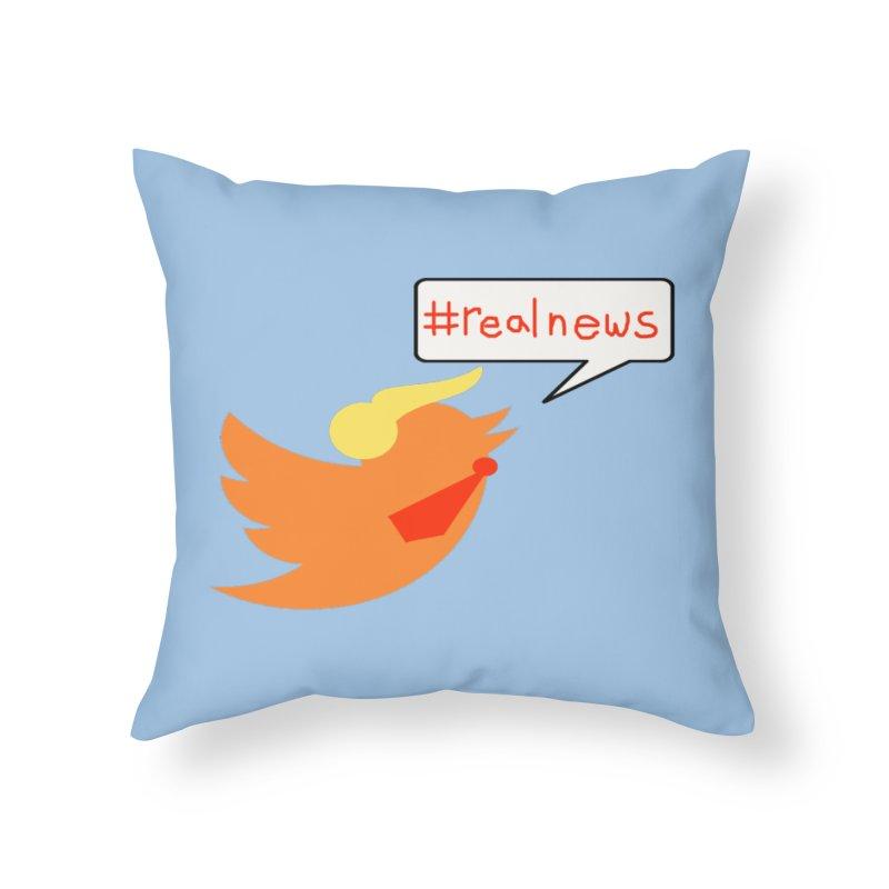 #RealNews Home Throw Pillow by Sam Shain's Artist Shop
