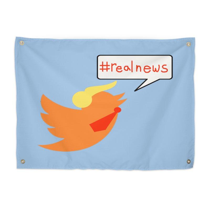 #RealNews Home Tapestry by Sam Shain's Artist Shop