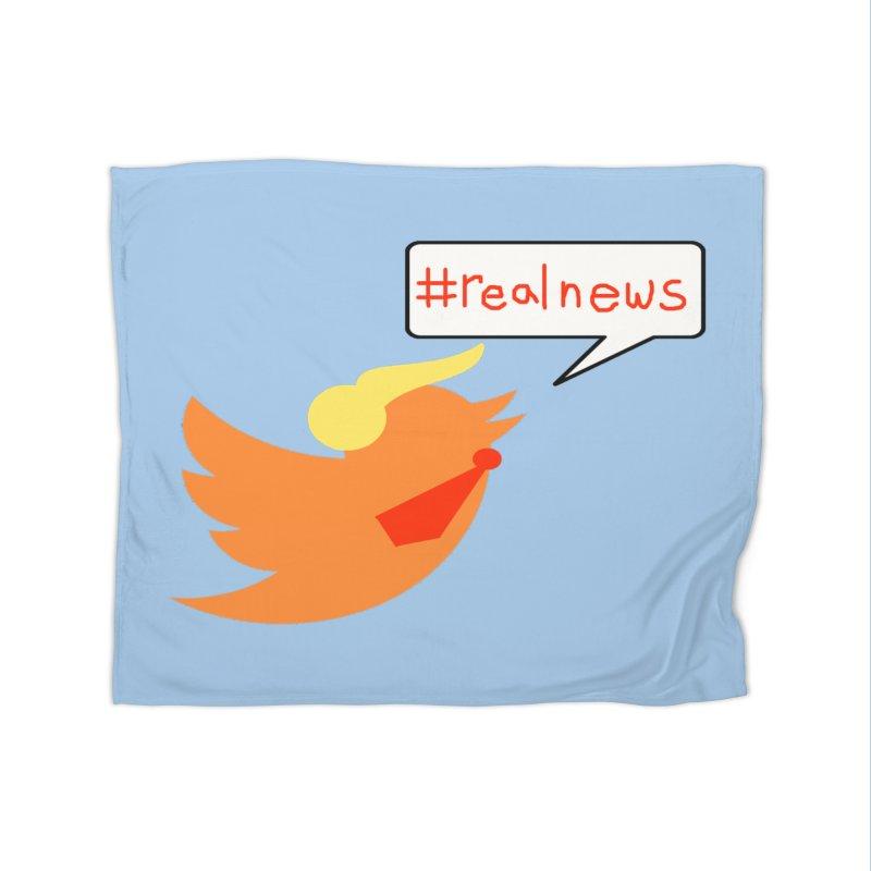 #RealNews Home Fleece Blanket Blanket by Sam Shain's Artist Shop