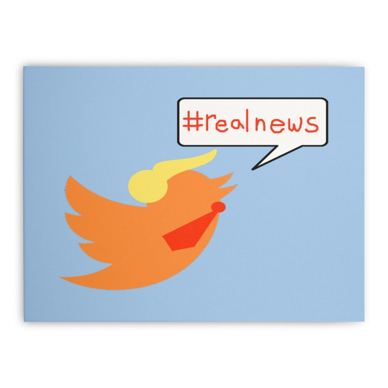 #RealNews Home Stretched Canvas by Sam Shain's Artist Shop