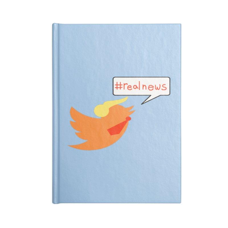 #RealNews Accessories Blank Journal Notebook by Sam Shain's Artist Shop
