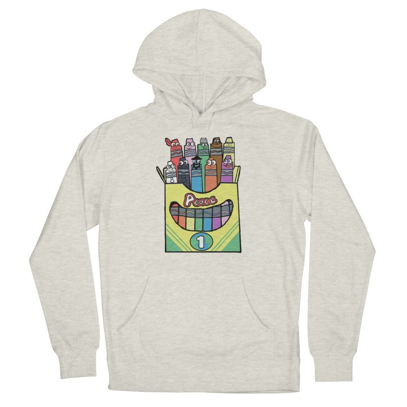 Colors of Peace in Women's French Terry Pullover Hoody Heather Oatmeal by SamShain's Artist Shop